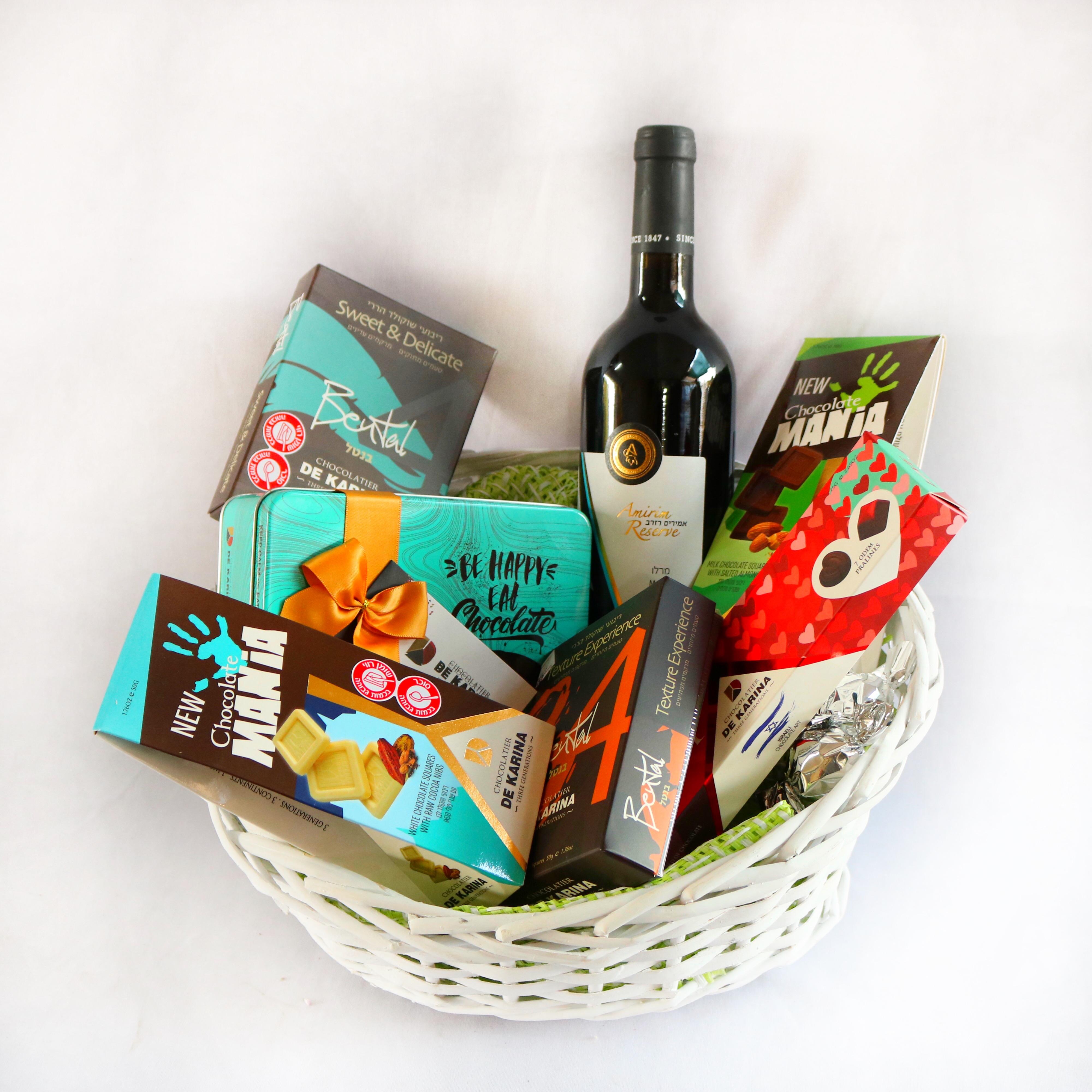 מארז שוקולדים יין פרימיום